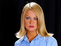 Hot Jasmine Sinclair's in nurse's uniform tied